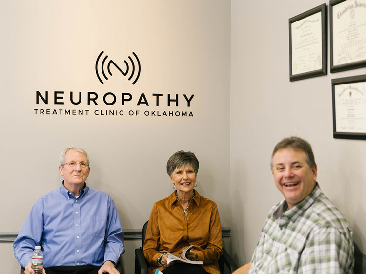 Patients in the waiting room at the Neuropathy Treatment Clinic of Oklahoma